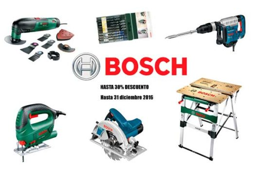 Promoción Bosch hasta 30% descuento hasta 31 diciembre 2016 ofertas blog de ofertas chollos descuentos