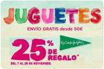 ¡Promoción! 25% Regalo Juguetes El Corte Inglés del 7 al 28 Noviembre