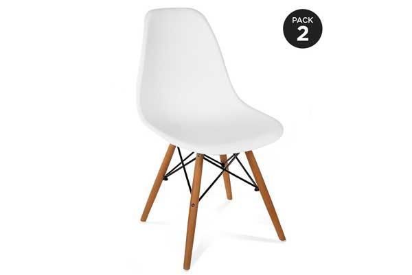 pack 2 sillas de diseño retro baratas ofertas descuentos chollos blog de ofertas
