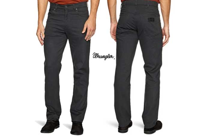 pantalon negro wrangler texas stretch barato chollos amazon blog de ofertas bdo