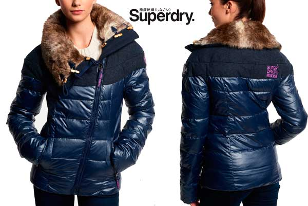 Cazadora Quartz Mix Biker Superdry barata oferta descuento chollo blog de ofertas .
