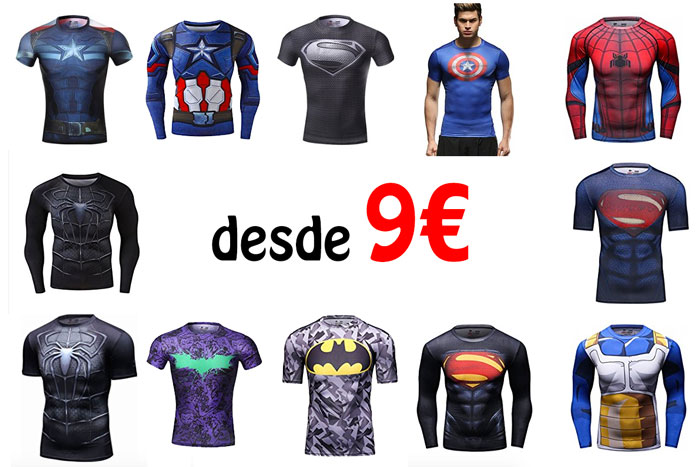 camisetas de compresión de comics baratas chollos amazon blog de ofertas bdo