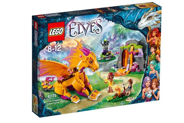 comprar LEGO Elves Set Gruta de lava del dragón del fuego barato chollos amazon blog de ofertas bdo