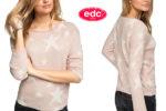 ¡Chollo! Suéter estrellitas EDC by Esprit barato 22,48€ -63% Descuento