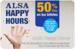Happy Hours Alsa -50% Descuento en tus Billetes ¡Sólo HOY!