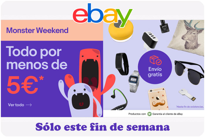 monster weekend ebay enero 2017 chollos rebajas blog de ofertas bdo