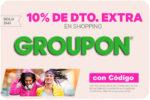 ¡Oferton! 10% Descuento Extra GROUPON en Shopping ¡Sólo HOY!