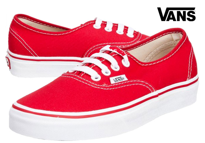 vans authentic rojo