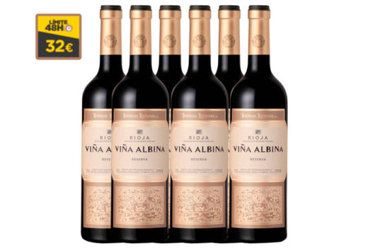 ¡Chollo! Viña Albina vino tinto caja 6 Botellas baratas