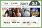 2×1 Películas y Series TV en El Corte Inglés ¡Sólo 3 Días!