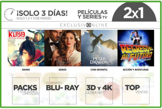 2x1 cine y series tv en el corte ingles chollos rebajas blog de ofertas bdo