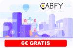 Viaja GRATIS en Cabify al Registrate te regalan 6€ ¡Código Descuento GRATISB1!