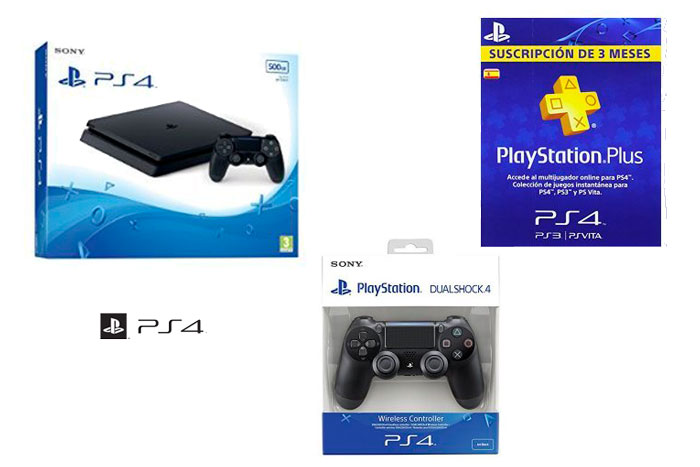 PlayStation 4 + DualShock 4 + PSN Plus tarjeta 90 días barata oferta descuento chollo blog de ofertas