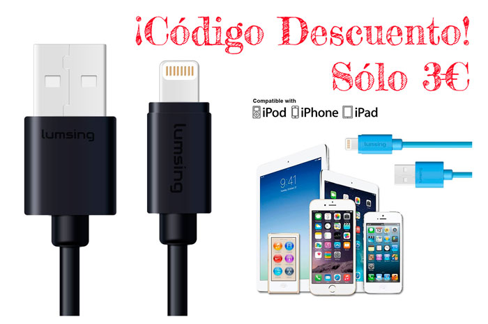 cable lightning lumsing barato chollos amazon blog de ofertas bdo