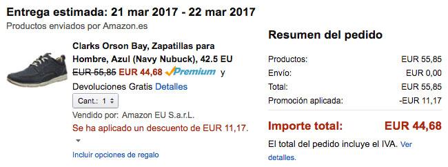 Zapatos clarks baratos for Zapateros baratos amazon