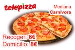 ¡Chollo! Pizza Mediana Carnívora de Telepizza 6€ Recoger ó 8€ Domicilio