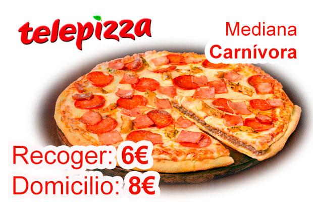 pizza mediana carnivora de telepizza chollos rebajas blog de ofertas bdo