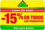 Promoción Leroy Merlin -15% Descuento para Socios Lunes 26 Junio
