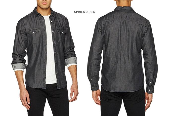 camisa vaquera Springfield barata oferta descuento chollo blog de ofertas bdo.jpg