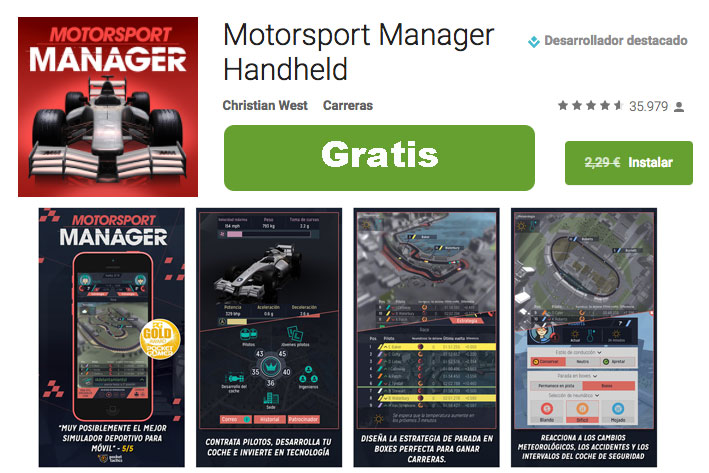 motorsport manager handheld gratis android chollos rebajas blog de ofertas bdo