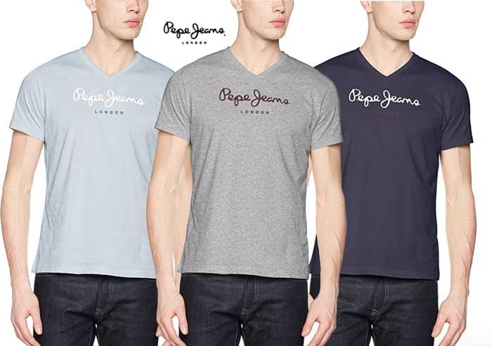 Camiseta Pepe Jeans Eggo V barata oferta blog de ofertas bdo .jpg