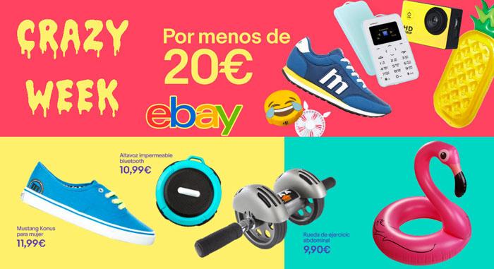 crazy week ebay todo por menos de 20 euros chollos rebajas blog de ofertas bdo