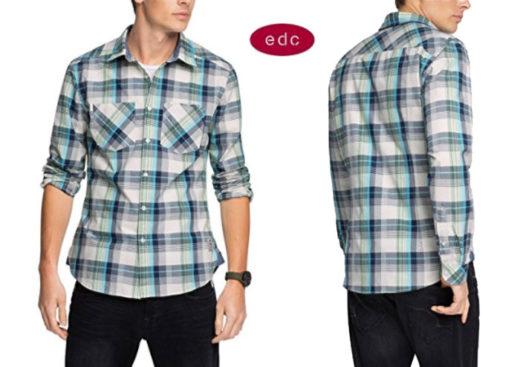 Camisa EDC by Esprit Kariert barata oferta descuento chollo blog de ofertas bdo
