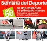 Semana del Deporte El Corte Inglés Enero TODO -50% Descuento ¡Empieza HOY!