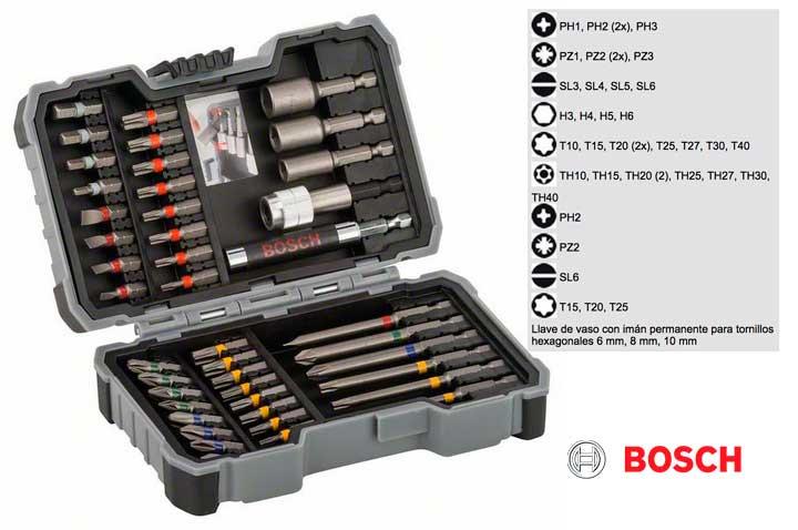 juego de puntas de atornillar y llaves de vaso 43 piezas bosch baratas chollos amazon blog de ofertas bdo