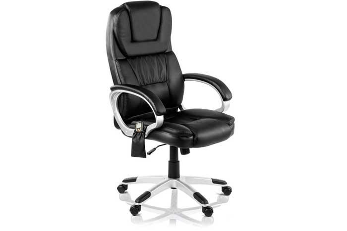 Chollo silla de oficina con masaje y calefacci n barata for Silla oficina oferta