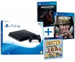 Consola PS4 500GB Slim + COD WWII + 2 Juegos sólo 244€al -43% Descuento
