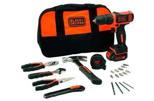 ¡Chollo! Taladro y 20 herramientas Black & Decker BDCDD12HTSA-QW barato 55,90€