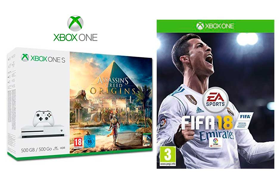 consola xbox one s assassin s creed origins fifa 18 s lo 223 95. Black Bedroom Furniture Sets. Home Design Ideas