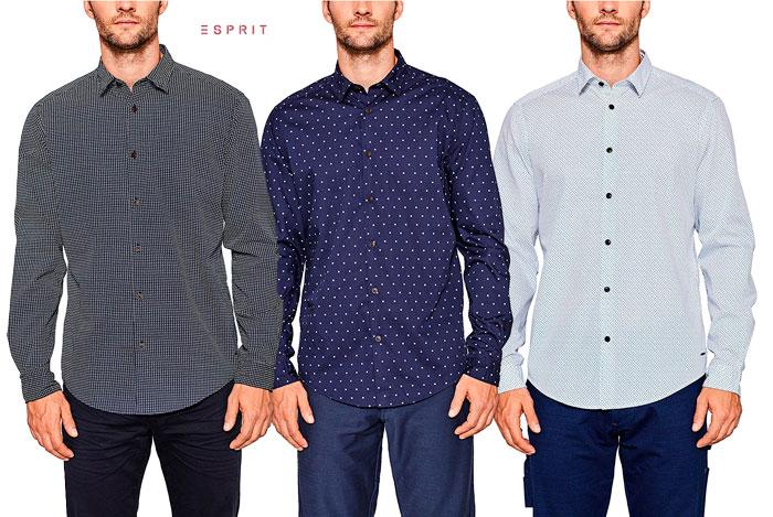 ¡Camisas Esprit baratas desde 17,8€ al -55% Descuento