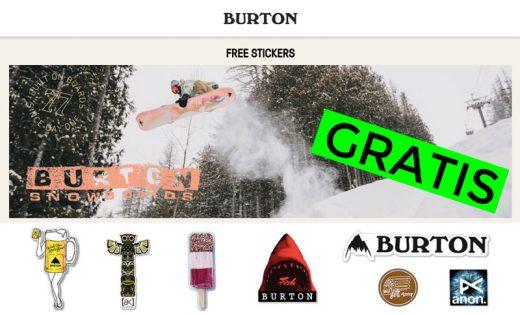 pegatinas burton gratis snowboard blog de ofertas bdo