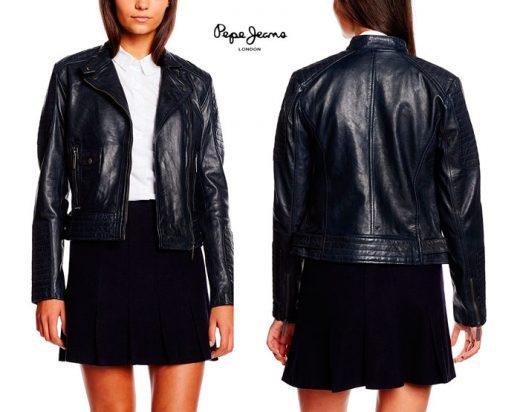 chaqueta de piel Pepe Jeans Rosemund barata chollos amazon blog de ofertas bdo