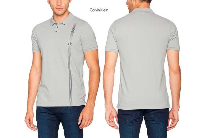 ¡Chollo! Polo Calvin Klein Polan SS barato