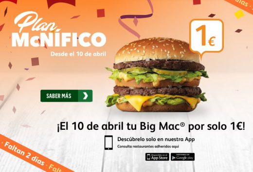 plan mcnifico big mac 1 euro mcdonalds blog de ofertas bdo
