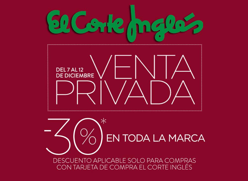 3b85d21b789 Venta Privada El Corte Inglés en MODA -30% Descuento hasta 12 Diciembre