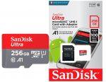 Tarjeta MicroSD SanDisk Ultra 256GB barata 36,49€al -57% Descuento