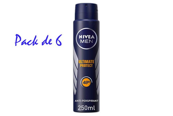 Desodorante hombre Nivea Stress Protech 48h pack 6 barato