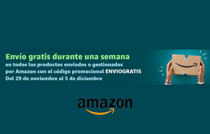 Envío gratis Amazon hasta 5 diciembre