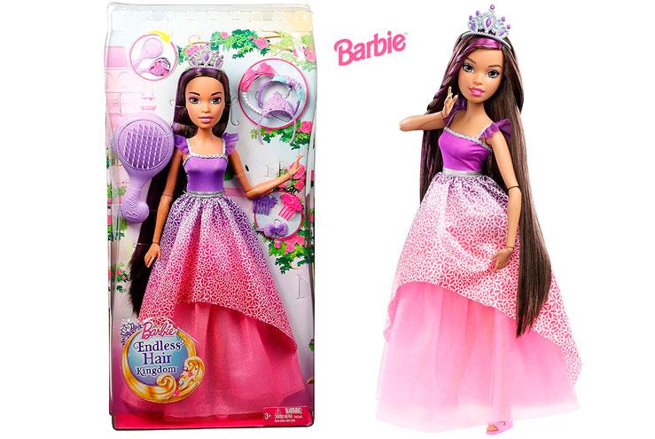 Barbie Princesa del Reino de los Peinados mágicos barata