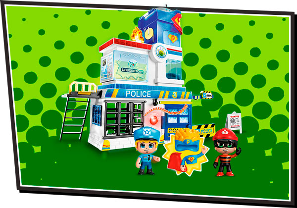 playset pinypon action trampas en la comisaria
