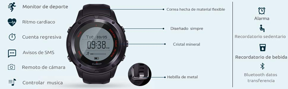 pulsera reloj cubot f1 fitness tracker barato