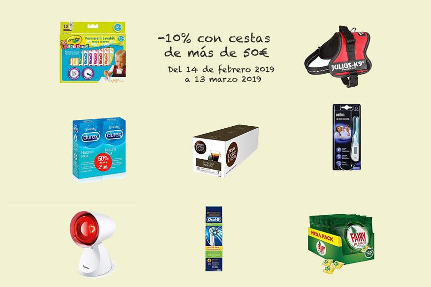 -10% con cestas de más de 50€