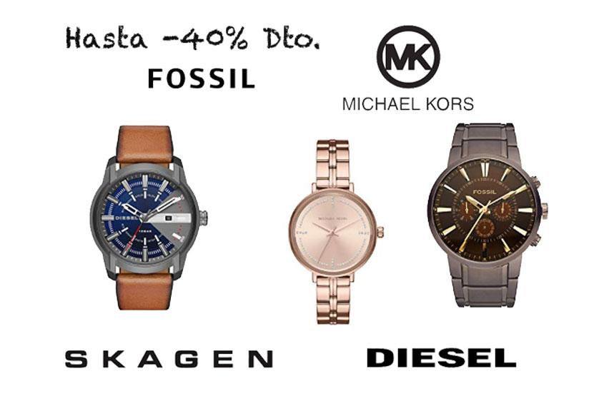 40% Dto. Fossil, Michael Kors, Diesel y Skagen