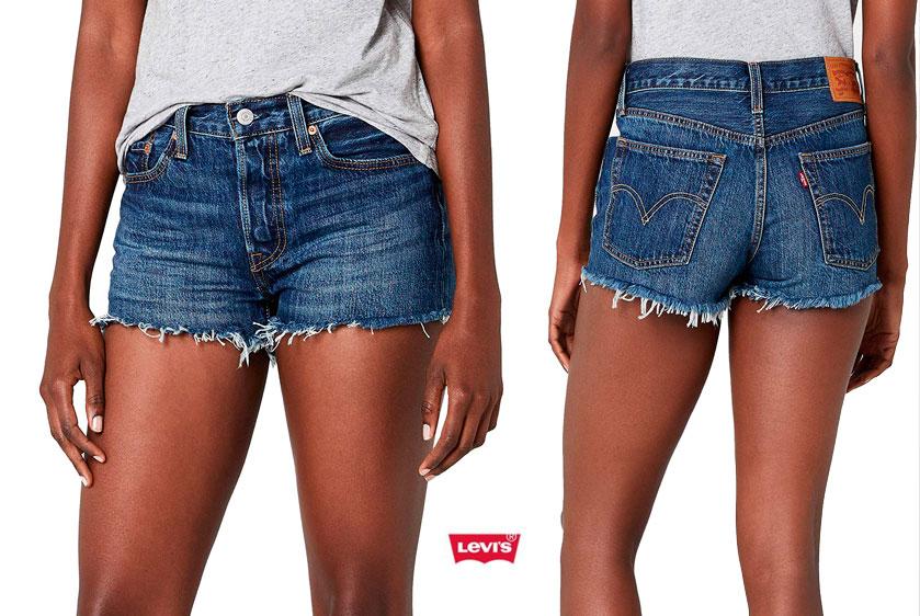 pantalones cortos Levis 501 baratos