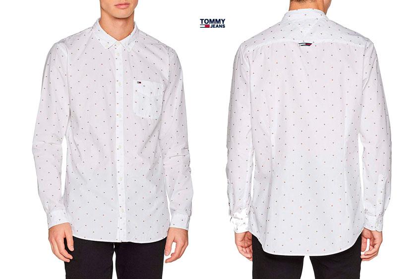 camisa Tommy Jeans Dobby barata