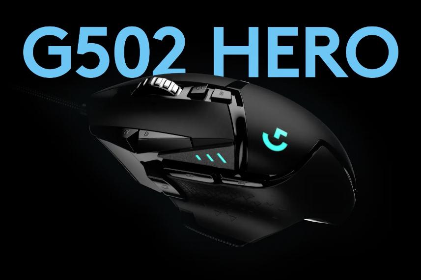Logitech G502 HERO Ratón Gaming con Cable Alto Rendimiento, Sensor HERO 16K, 16 000 DPI, RGB, Peso Personalizable, 11 Botones Programables